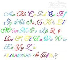 Roatan Embroidery Font