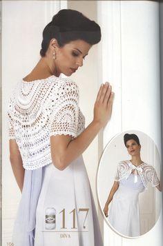 Shrug Bolero wedding . Lace top blouse, jacket crochet handmade , custom made. $149.00, via Etsy.