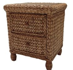 Seagrass Nightstand - Miramar #seagrass #bedroom #furniture #nightstand