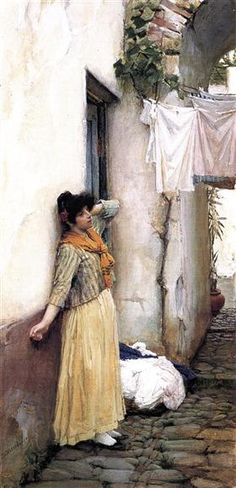 Resting, 1886 by John William Waterhouse