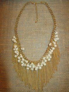 Fringe & Pearl Necklace