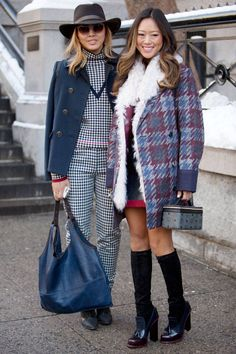 Street Style NYFW 2014 via ElleBelgique