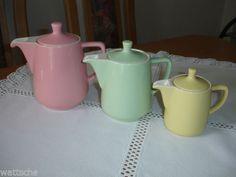 Melitta-Minden-3-Kaffeekannen-rosa-mintgruen-gelb