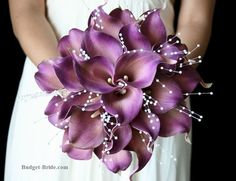 I love this bouquet! And it would go well with the bridesmaids dresses. Image source Soft pastel pink and purple wedding bouquet {Bryan Sargent Photography} Image source Bridal Flowers – September Wedding Image source Calla Lily Wedding Flowers, Purple Flower Bouquet, Purple Calla Lilies, Wedding Flower Guide, Calla Lily Bouquet, Purple Wedding Bouquets, Winter Wedding Flowers, Wedding Flower Arrangements, Bridal Flowers