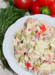 Sałatka z kabanosem - przepis i wymagane składniki | Gotuj z Blix.pl Salad Recipes, Potato Salad, Salads, Potatoes, Cooking Recipes, Ethnic Recipes, Kitchens, Lettuce Recipes, Potato