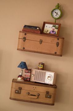 Best 25 Suitcase Shelves Ideas On Pinterest Vintage