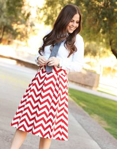 a9fbbf73ffeda1 The Chevron Skirt    Lipstick This skirt is adorable! And fall is just  around