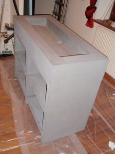 fabriquer meuble salle de bain siporex : Double plan vasques à ...