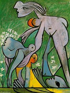 'The rescue', Oil On Canvas by Pablo Picasso (1881-1973, Spain)