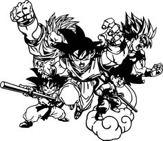 Dragon Ball Z Goku Group Vinyl Sticker Decal