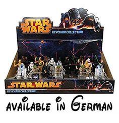 Star Wars Schlüsselanhänger Collectors Set. 8 verschiedene Charaktere. Chewbacca, Yoda, Darth Vader, Darth Maul. Figuren aus den Star Wars Filmen 1,4,5 und 6. Luke, C-3PO, Stormtrooper, R2-D2. Schlüsselanhänger Sammlung #Toy #TOYS_AND_GAMES