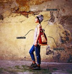 El Mato's style!! #street_style#handmade_accessories#made_in_italy_bags#lavorazione_cuoio_cremona#laboratorio_di_confezione_cremona#zaino_futuristico#zaino_artigianale#zaino_particolare#zaino_unico#