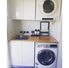 If your house isn't blessed in imitation of a huge sky to wash and fold your clothes, don't worry. every of these room ideas once built-in storage tips will back up you create the most of what you laundry room organizing ideas. Built In Storage, Laundry Design, Laundry Room, Room Storage Diy, European Laundry, Laundry In Bathroom, Compact Laundry, Room Design