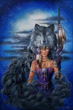 Spirit of the Wolf ♥ Native American Wolf, Native American Pictures, Native American Artwork, American Spirit, Native Indian, Native Art, Indian Art, Indian Pics, Fantasy Kunst