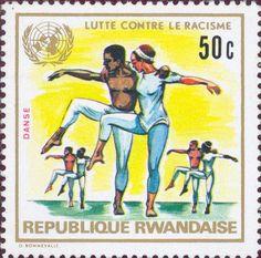 Rwanda  -  Two ballet dancers. Racial Equality Year