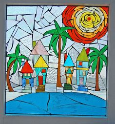 Very cool stained glass mosaic window by grey dog studio!