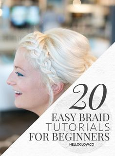 20 Easy Braid Tutorials for Beginners | HelloGlow.co