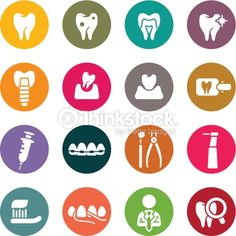 Clipart vectoriel : Icônes dentaire