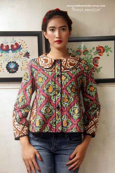 Batik Amarillis's West and girl ...The western inspired style of clothing is true staples that will suit and easily combined with your other outfits! This American west outfit style with superb cutting & idea is insanely beautiful and stylish, a true artwork concept !