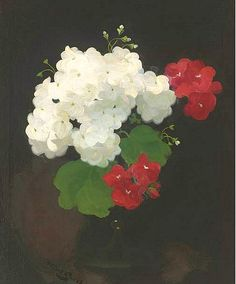 James Stuart Park - Still Life with Geraniums in a Vase