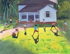 Cricket Painting  - Cricket Fine Art Print