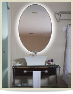 Website Picture Gallery  Series The radiant illumination of this oval shaped series provides a serene affect that Lighted MirrorDownstairs BathroomMaster