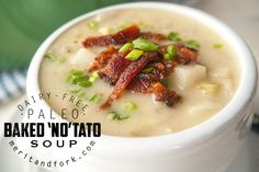 Baked Potato Soup – without the potatoes. You read that right. I've been on a huge fake-out kick and it all started while testing...