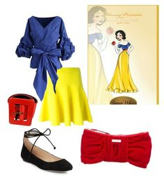 """""""snow white"""" by disney-geek-freek ❤ liked on Polyvore featuring Chicwish, Yves Saint Laurent, Karl Lagerfeld and Kate Spade"""