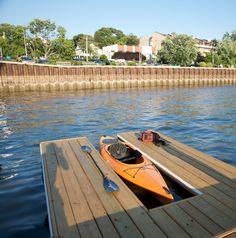Port Washington NY | Kayak launching pad at Town Dock