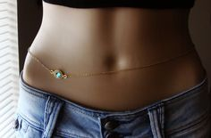 Gold plated Belly Chain Body jewelry Waist Chain Gold by Ninnos Waist Jewelry, Body Chain Jewelry, Shell Jewelry, Simple Jewelry, Cute Jewelry, Jewelry Bracelets, Hang Jewelry, Silver Bracelets, Jewelery