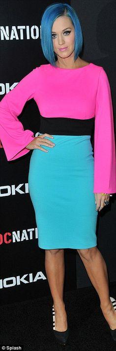 Katy Perry. Colour blocking.