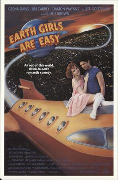 """Earth Girls Are Easy 1988 Authentic 27"""" x 41"""" Original Movie Poster Rolled Fine, Very Good Jeff Goldblum Musical U.S. One Sheet"""