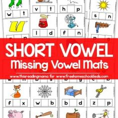 FREE SHORT VOWEL MISSING VOWEL MATS (instant download)
