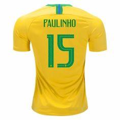 2018 World Cup Jersey Brazil Home Paulinho Replica Yellow Shirt 2018 World  Cup Jersey Brazil Home Paulinho Replica Yellow Shirt  72e2cf0ab