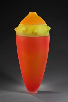"""Sans-titre (série cactacea) (2009) // Verre soufflé, incalmo 60 x 30 x 30cm / Blown glass, incalmo, 24"""" x 12"""" x 12"""""""