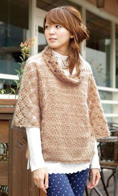 Lacy crochet sweater, chart and pattern