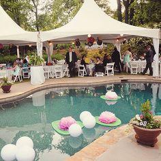 30 Amazing Garden Party Wedding Ideas With A Pool Decoration   Visca Wedding