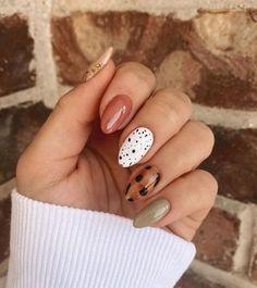 Fall Gel Nails, Cute Nails For Fall, Cute Gel Nails, Get Nails, Cute Acrylic Nails, Autumn Nails, Nail Art For Fall, Nail Ideas For Fall, Nail Art Ideas