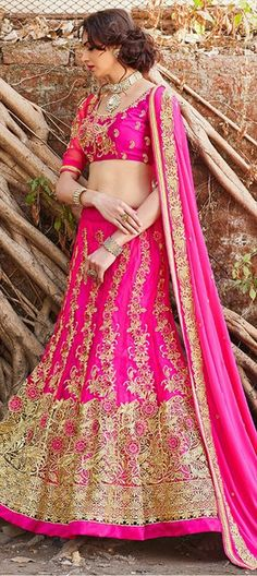 INDIAN BRIDAL WEAR - Of course, it can to be pink!  #Partywear #IndianWedding #IndianFashion #lehenga #bridetobe