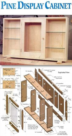 Teds Wood Working - Wall Display Cabinet Plans - Furniture Plans and Projects | WoodArchivist.com More - Get A Lifetime Of Project Ideas & Inspiration!