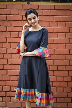 Fabric: Khadi Cotton Sleeves: Sleeves Are Included Size: (Bust) Up To 42 in (Free Size) Length: Up To 46 in Type: Semi-Stitched Fabric: Khadi Cotton Salwar Designs, Kurti Neck Designs, Kurta Designs Women, Dress Neck Designs, Kurti Designs Party Wear, Designs For Dresses, Blouse Designs, Simple Kurti Designs, Frock Design