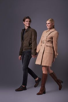 ALBA MODA Leather Tabac Boots! Fall Winter, Autumn, Every Woman, Military Jacket, Bootie Boots, Booty, Casual, Leather, Jackets