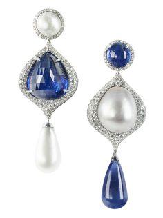 Bogh-Art Ceylon sapphire diamonds & pearls