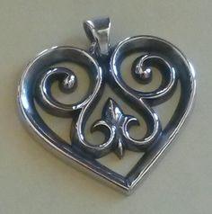 James Avery French Heart Pendant