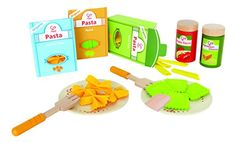 Hape Pasta Wooden Play Kitchen Food Set with Accessories in Play Food. Wooden Play Food, Wooden Play Kitchen, Wooden Toys, Play Kitchen Food, Play Food Set, Ikea Duktig, Hape Toys, Children's Toys, Boy Toys