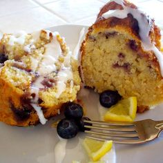 Lemon Blueberry Bundt Cake (vegan)