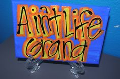 Custom Canvas Widespread Panic Ain't Life by OneLoveMileHigh, via Etsy.