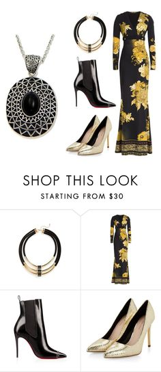"""""""Dark and Light"""" by badwitch-69 on Polyvore featuring Topshop, Roberto Cavalli and NOVICA"""