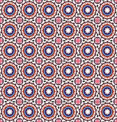 Suzani, vector seamless ethnic pattern with Uzbek, Turkish and Kazakh motifs in bright vibrant colors Texture for web, print, wallpaper, home decor, summer fall fashion textile, fabric, ceramic tile - sample image