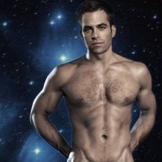 Chris Pine without a shirt...who knew?
